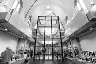 Siroco - Médiathèque de Virton - Tour du centre avec verre sur cadre acier
