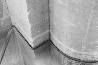 Siroco - Médiathèque de Virton - découpe des dalles de sol