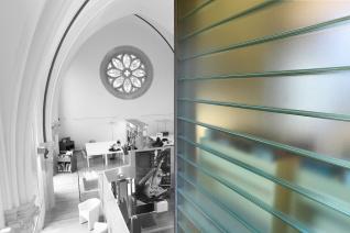 Siroco - Médiathèque de Virton - verre linit sur les cotes de la tour