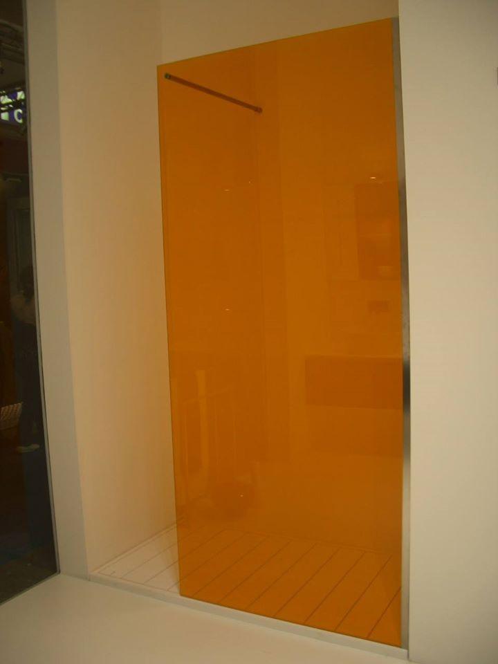Siroco - Douches - Douche en verre Feuilleté orange