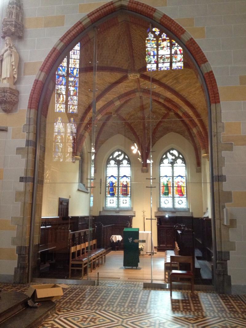 Siroco - Portes - Cloison en verre église a Bruxelles